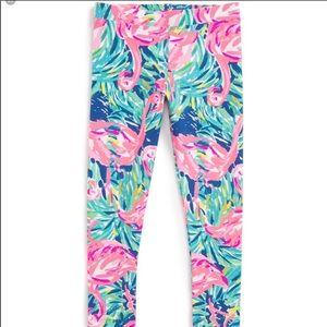 Lilly Pulitzer flamenco beach flamingo leggings L